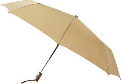Leighton Umbrellas Manhattan Automatic Umbrella khaki - Leighton Umbrellas Umbrellas and Rain Gear