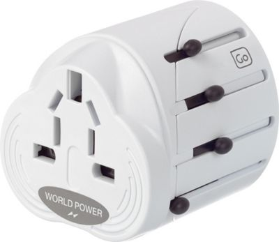 Go Travel Worldwide Adaptor White - Go Travel Electronic Accessories