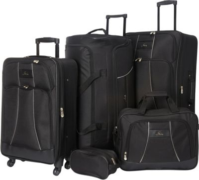 Skyway Seville 5 Piece Travel Set Black - Skyway Luggage Sets