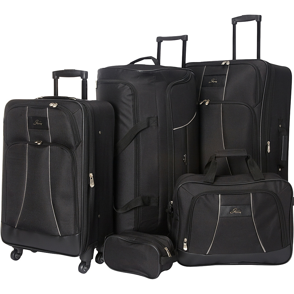 Skyway Seville 5 Piece Travel Set Black Skyway Luggage Sets