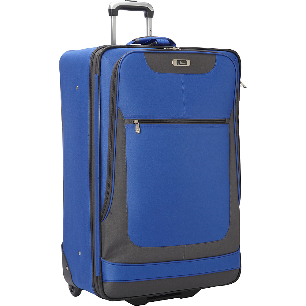 Skyway Epic 28 Inch 2 Wheel Expandable Upright Surf Blue Skyway Softside Checked