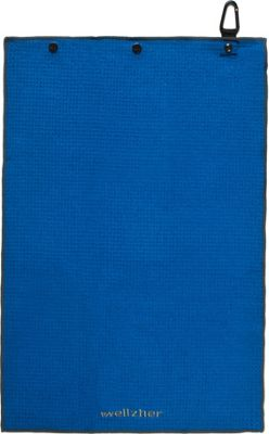 Wellzher Premium Microfiber Dual-action Golf Towel & Retractable Golf Ball Towel Royal Blue - Wellzher Sports Accessories