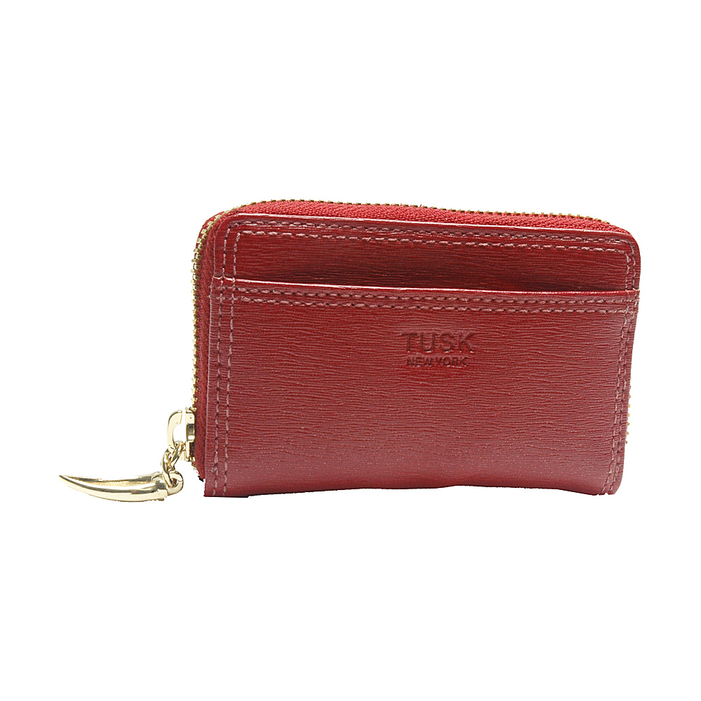 TUSK LTD Madison Card or Coin case Red TUSK LTD Women s Wallets