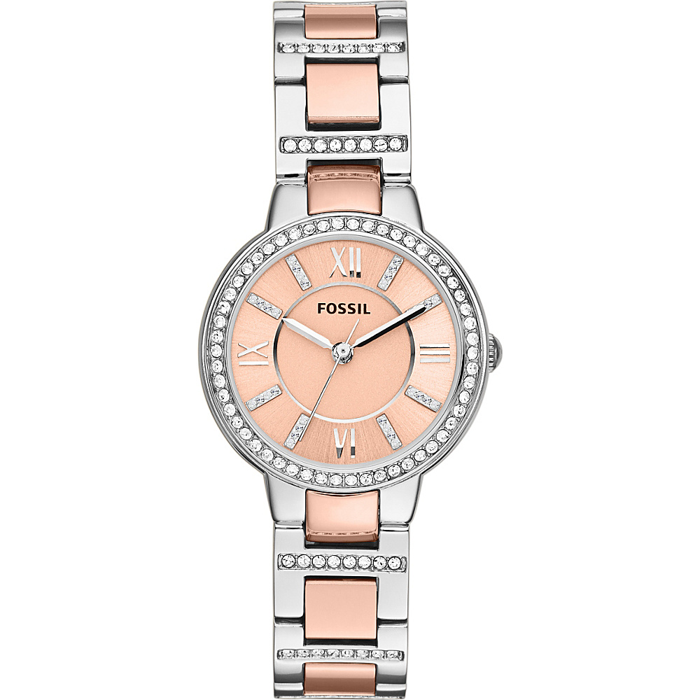 Fossil Virginia Silver/Rose Gold - Fossil Watches - Fashion Accessories, Watches