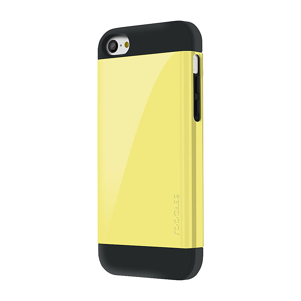 rooCASE Slim Fit Armor Dual Layer Case for iPhone 5C Yellow - rooCASE Electronic Cases