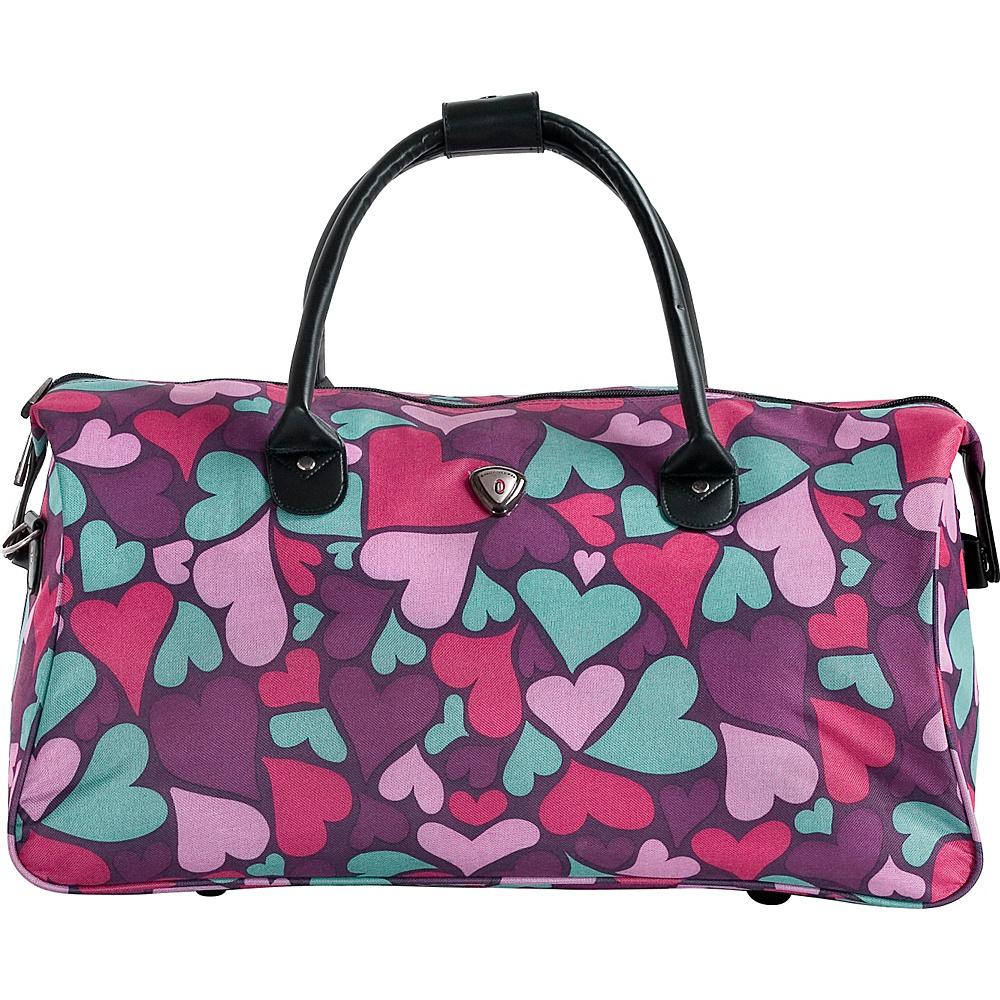 CalPak Hampton Duffle Bag Purple Hearts CalPak Travel Duffels