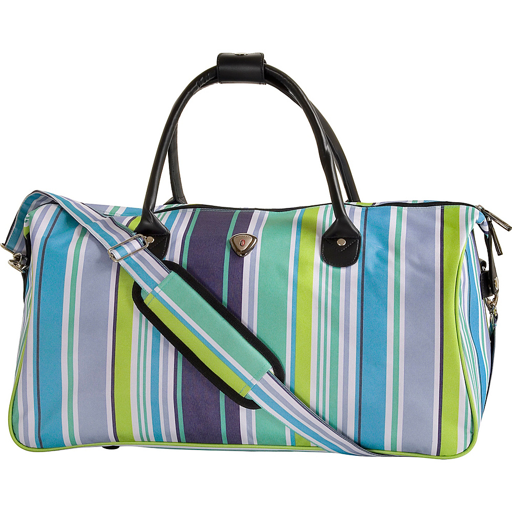 CalPak Hampton Duffle Bag Blue Strip CalPak Travel Duffels