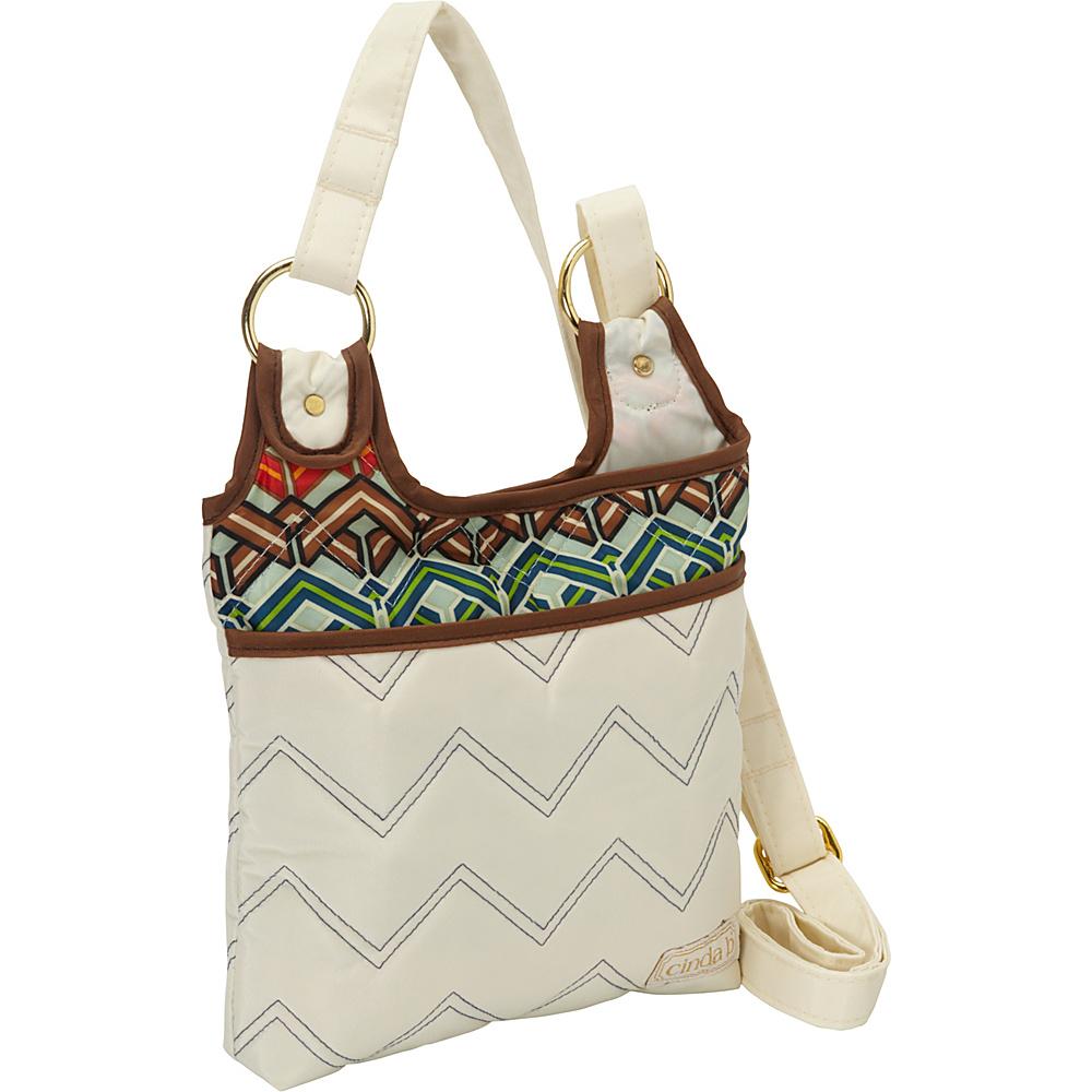 cinda b Hipster II Ravinia Ivory cinda b Fabric Handbags