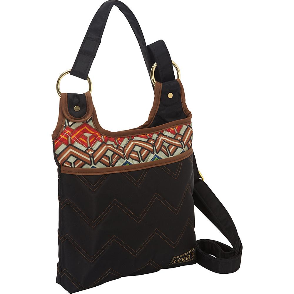 cinda b Hipster II Ravinia Black cinda b Fabric Handbags