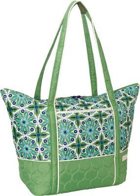 cinda b Super Tote II Verde Bonita - cinda b Luggage Totes and Satchels