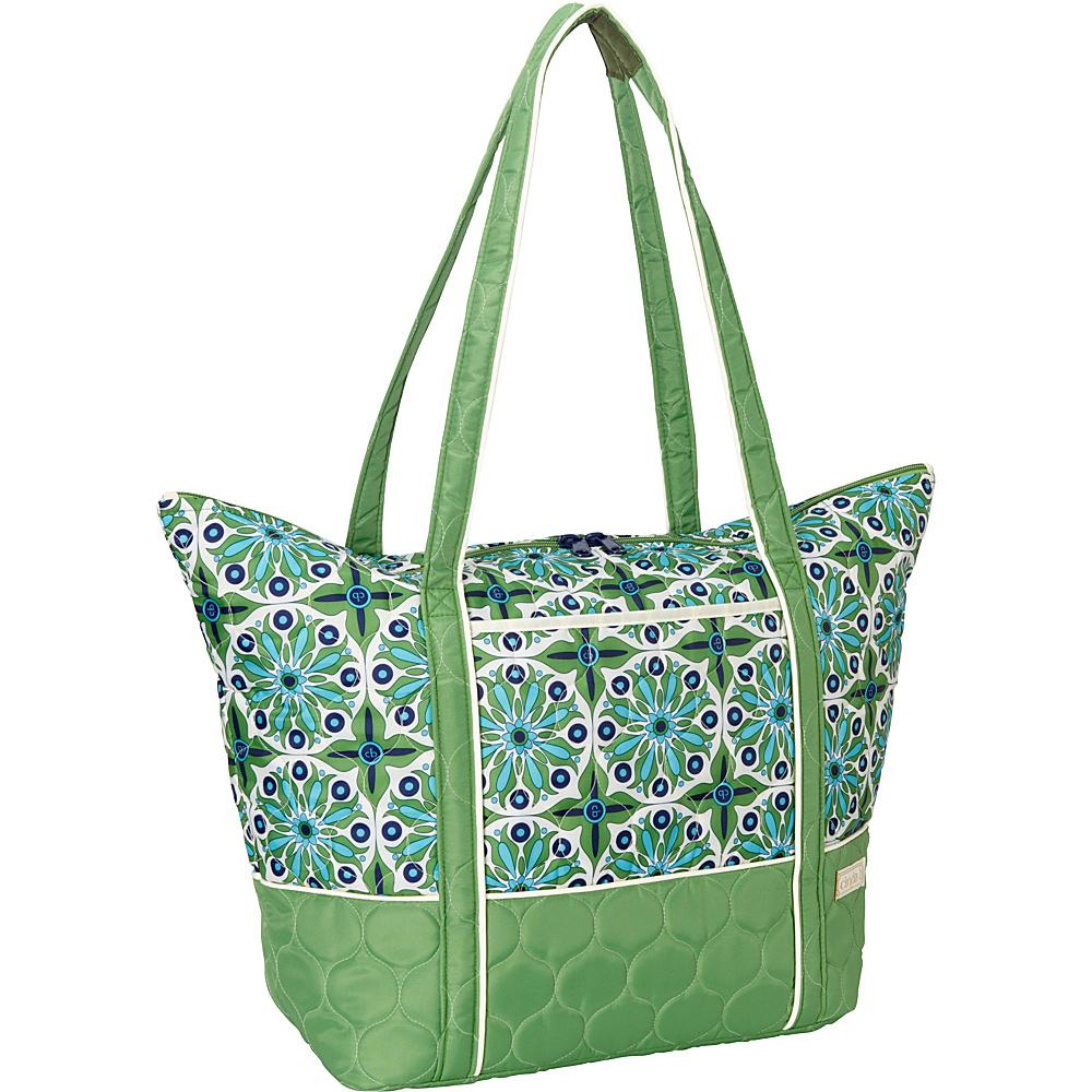 cinda b Super Tote II Verde Bonita cinda b Fabric Handbags