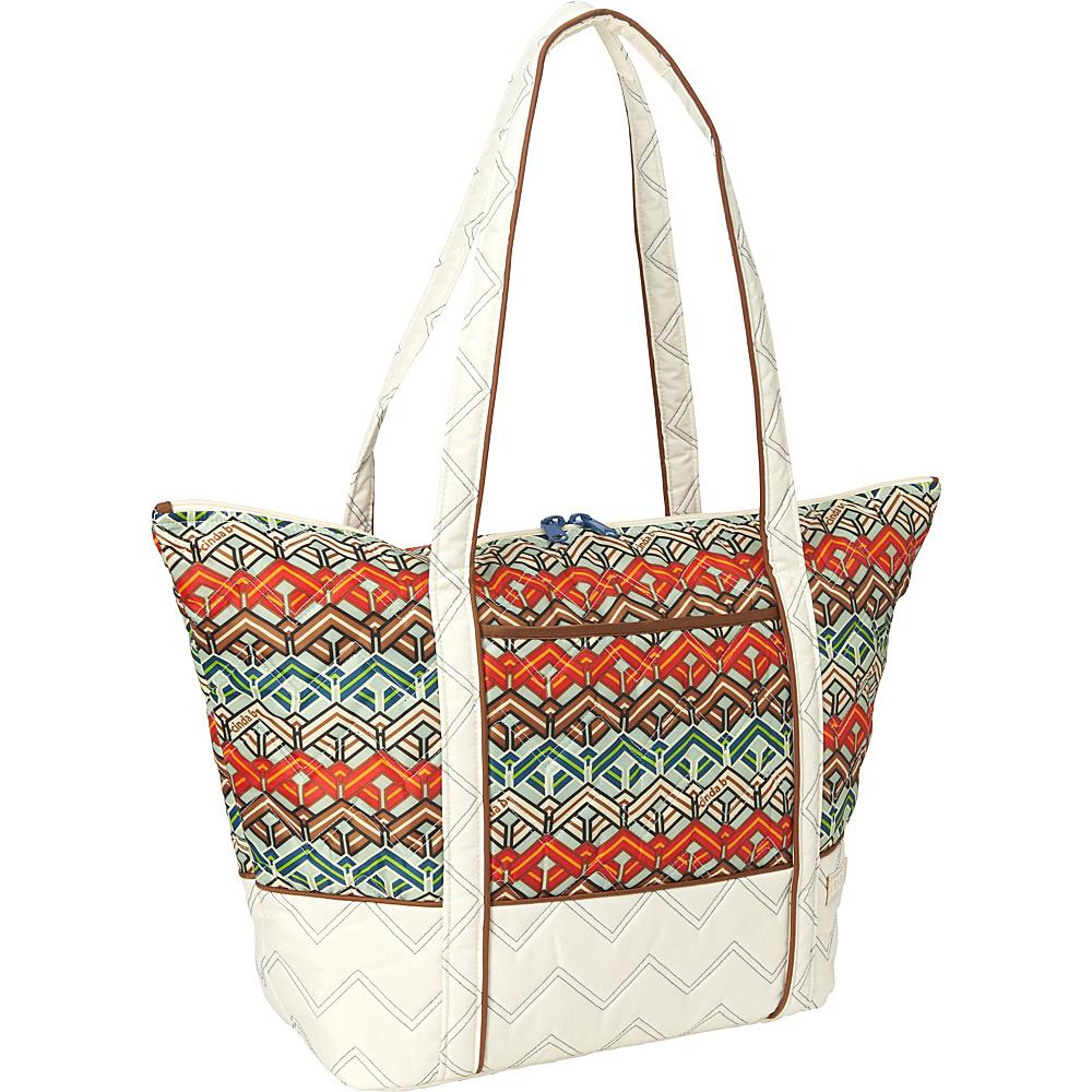 cinda b Super Tote II Ravinia Ivory cinda b Fabric Handbags