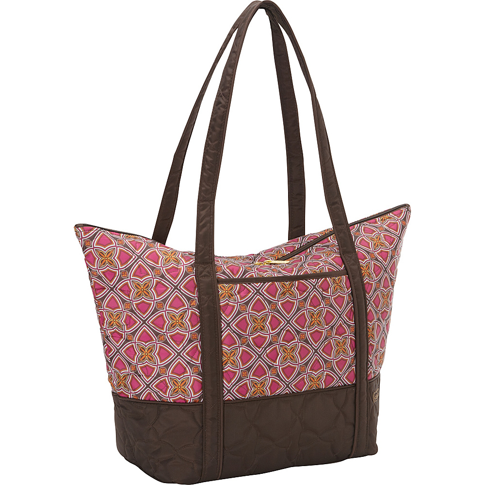 cinda b Super Tote II Stained Glass cinda b Fabric Handbags