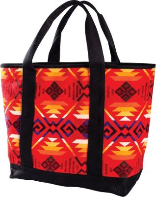 Pendleton Large Canvas Tote Coyote Butte Scarlet - Pendleton All-Purpose Totes
