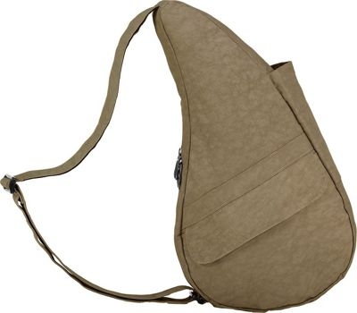AmeriBag Healthy Back Bag & Distressed Nylon Small Taupe - AmeriBag Fabric Handbags