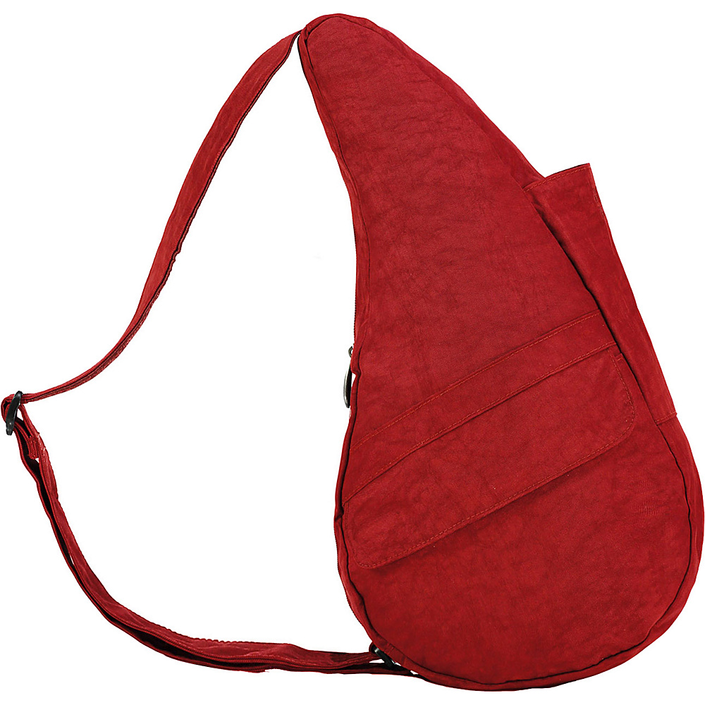 AmeriBag Healthy Back Bag Distressed Nylon Small Crimson - AmeriBag Fabric Handbags