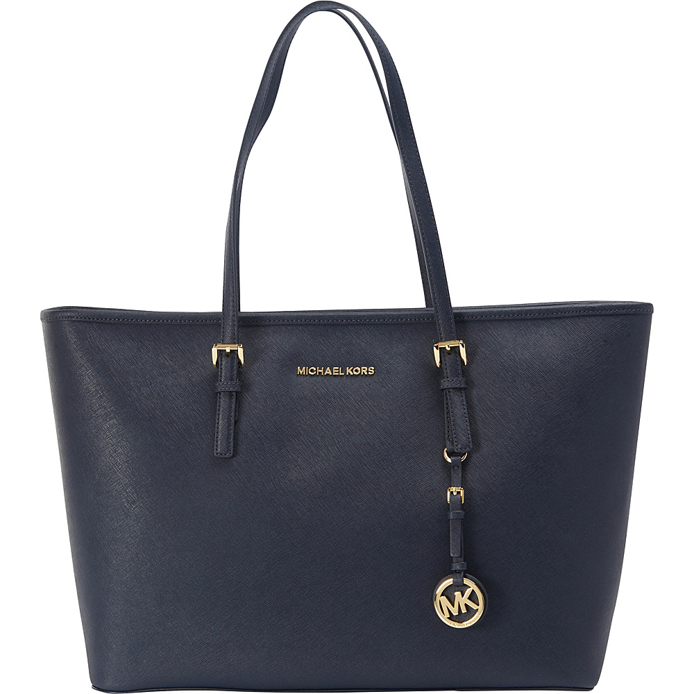 MICHAEL Michael Kors Jet Set Travel Medium Multifunction Tote Admiral MICHAEL Michael Kors Designer Handbags