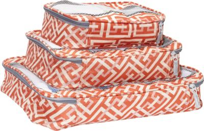 American Flyer Brickwall 3 Pc Set Perfect Packing System Orange - American Flyer Travel Organizers