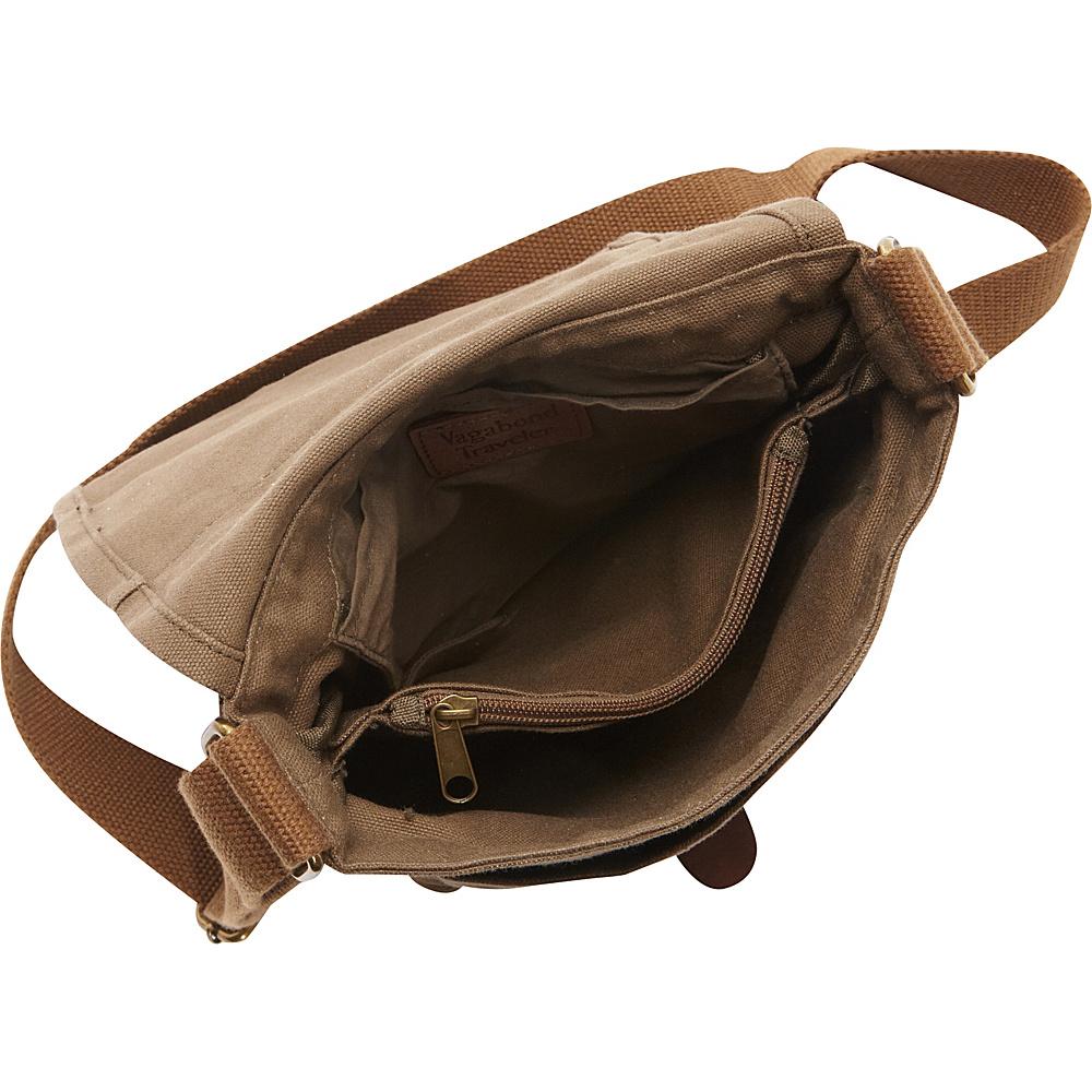 "Vagabond Traveler Tall 9.5"" Small Satchel Shoulder Bag Military Green - Vagabond Traveler Fabric Handbags"