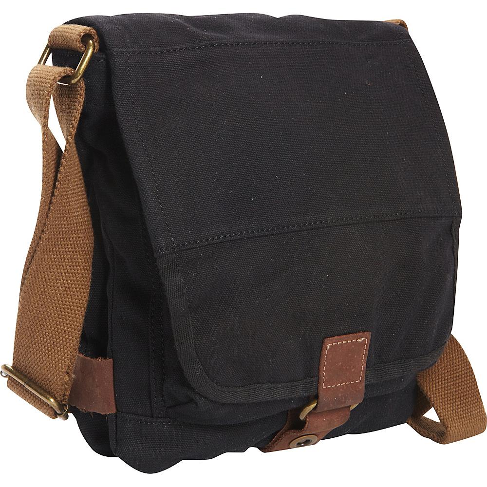 Vagabond Traveler Tall 9.5 Small Satchel Shoulder Bag Black - Vagabond Traveler Fabric Handbags - Handbags, Fabric Handbags