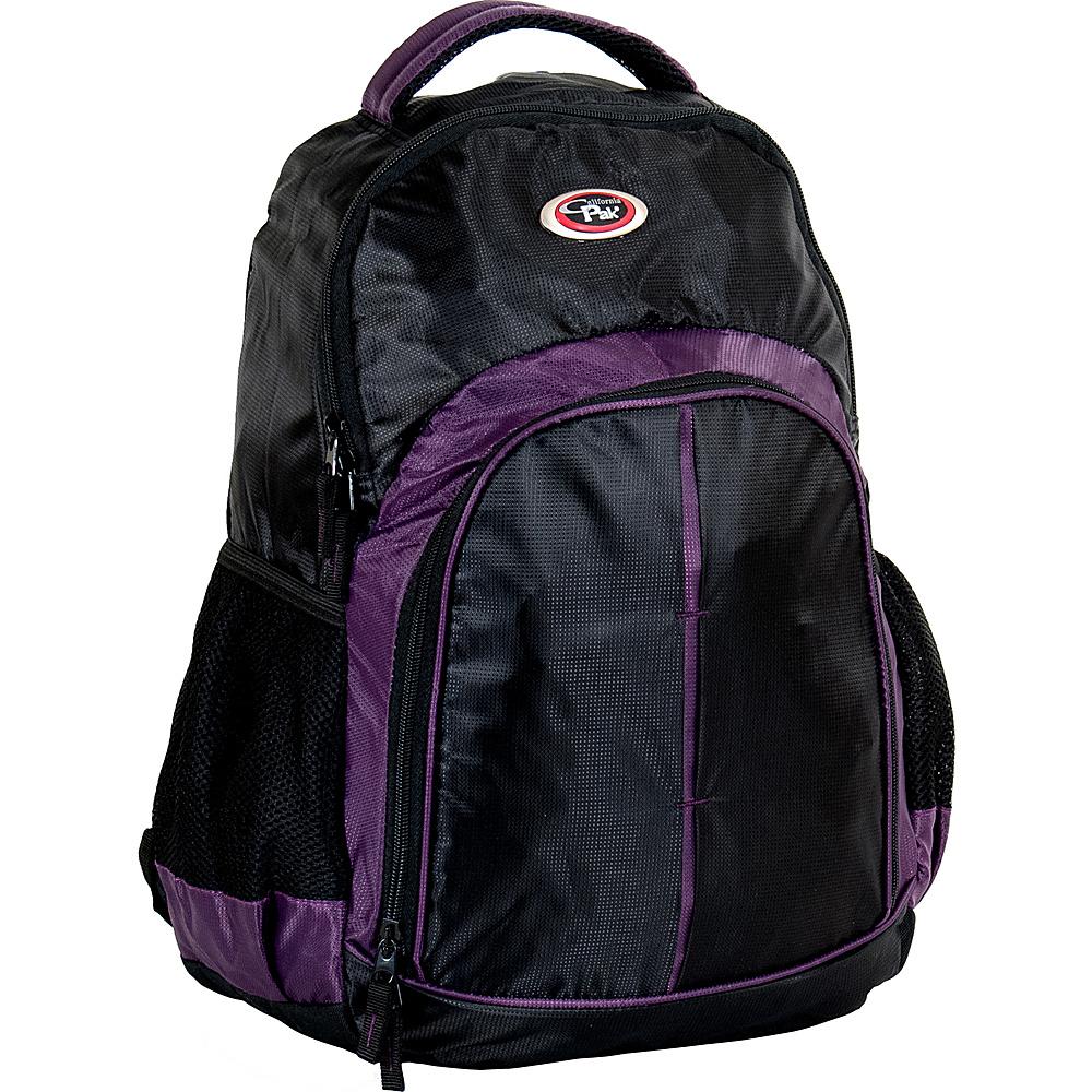 CalPak Hero Lightweight Backpack Black/Purple - CalPak School & Day Hiking Backpacks