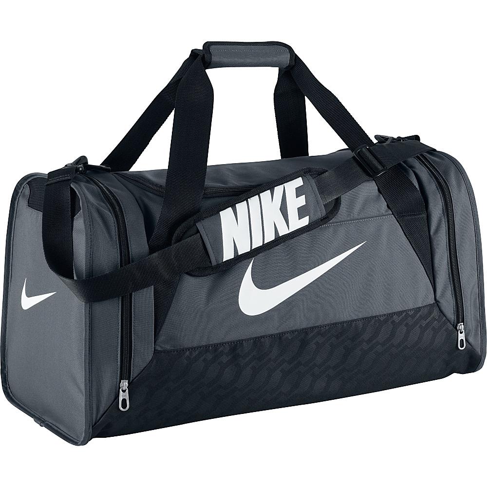 92def980752 ... Bag Flint Grey Size Medium   UPC 883153883528 product image for Nike  Brasilia 6 Medium Duffel Flint Grey Black White
