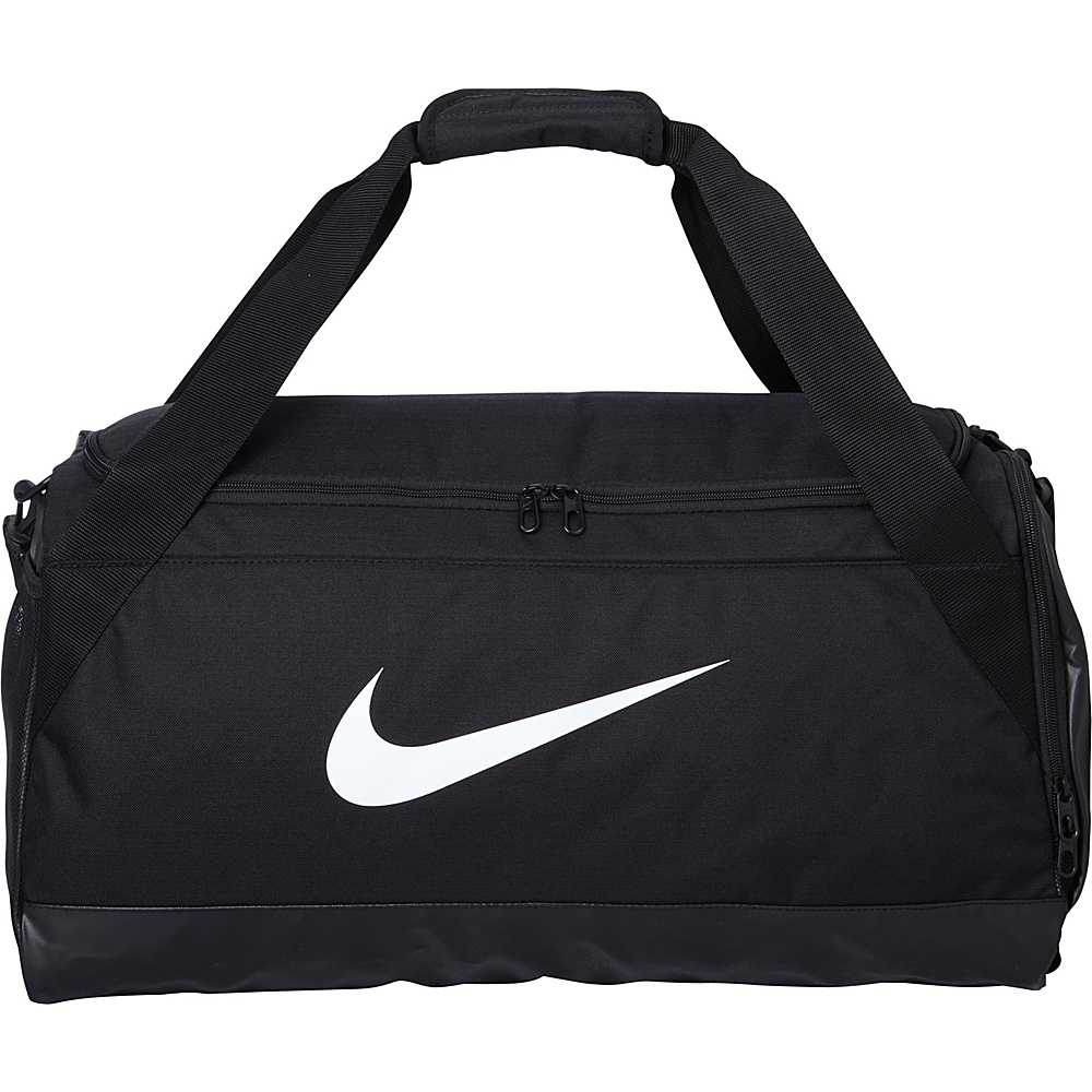 Nike Brasilia 6 Medium Duffel Black Black White Nike Gym Duffels