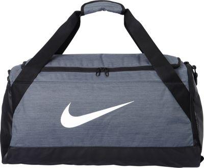 Nike Brasilia 6 Medium Duffel Flint Grey/Black/White - Nike Gym Duffels