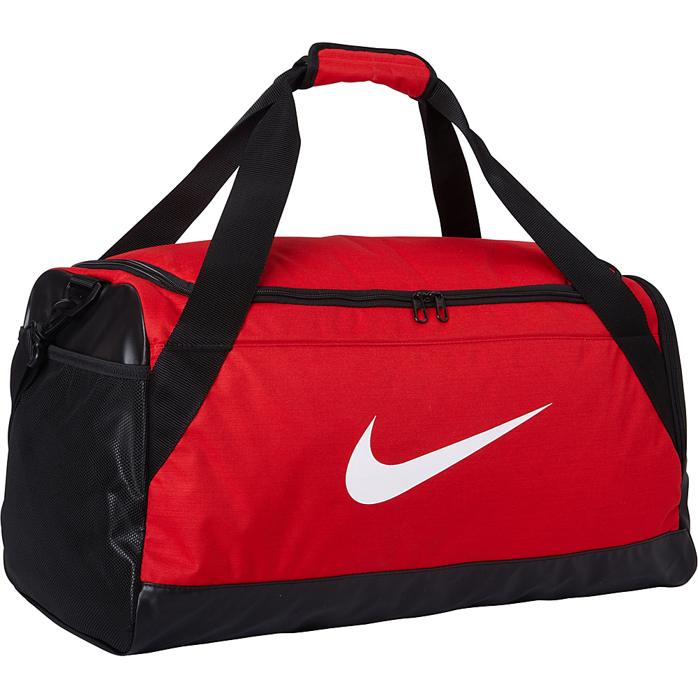 Nike Brasilia 6 Medium Duffel University Red Black White Nike Gym Duffels