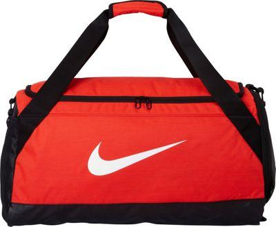 Nike Brasilia 6 Medium Duffel Max Orange/Black/White - Nike Gym Duffels