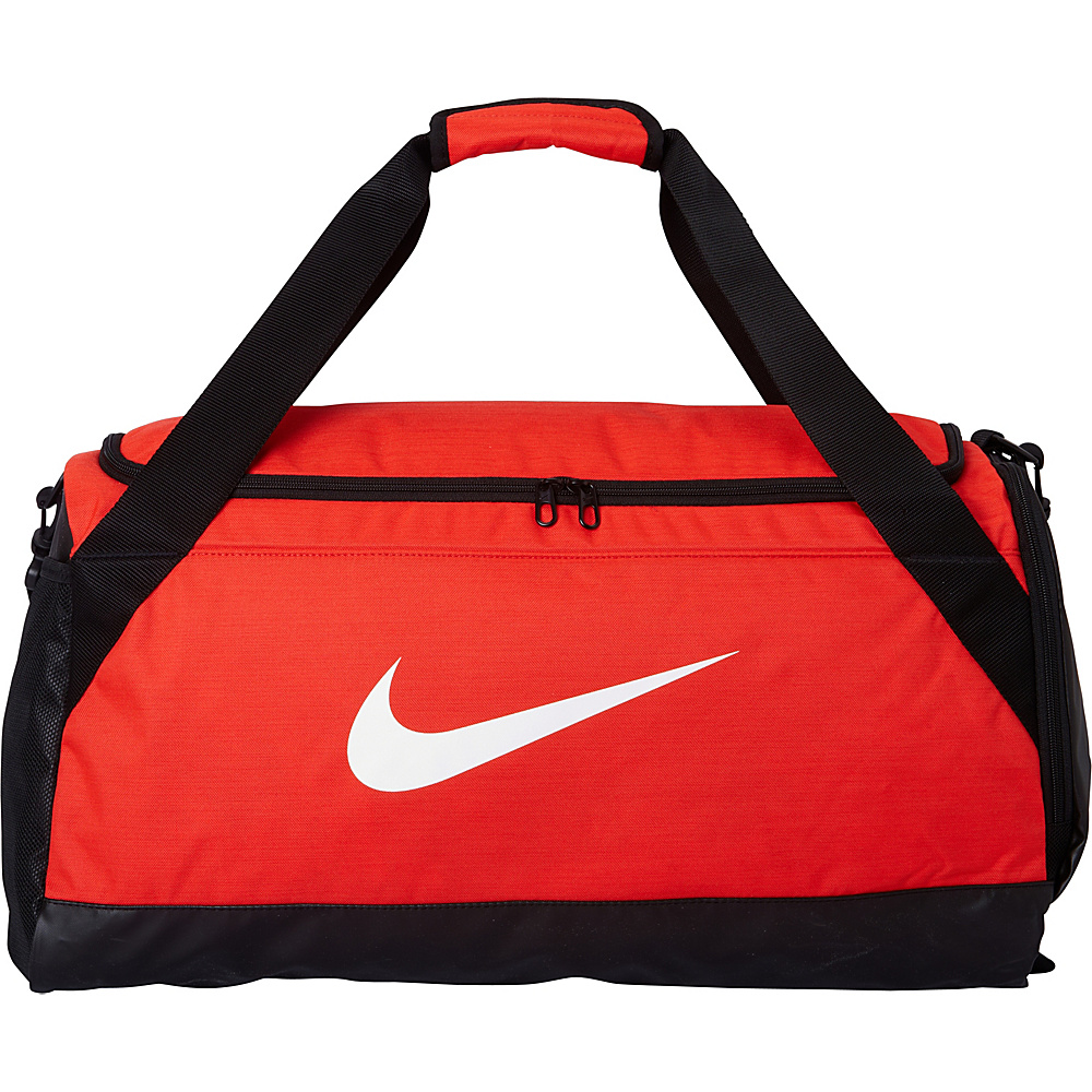 Nike Brasilia 6 Medium Duffel Max Orange Black White Nike Gym Duffels