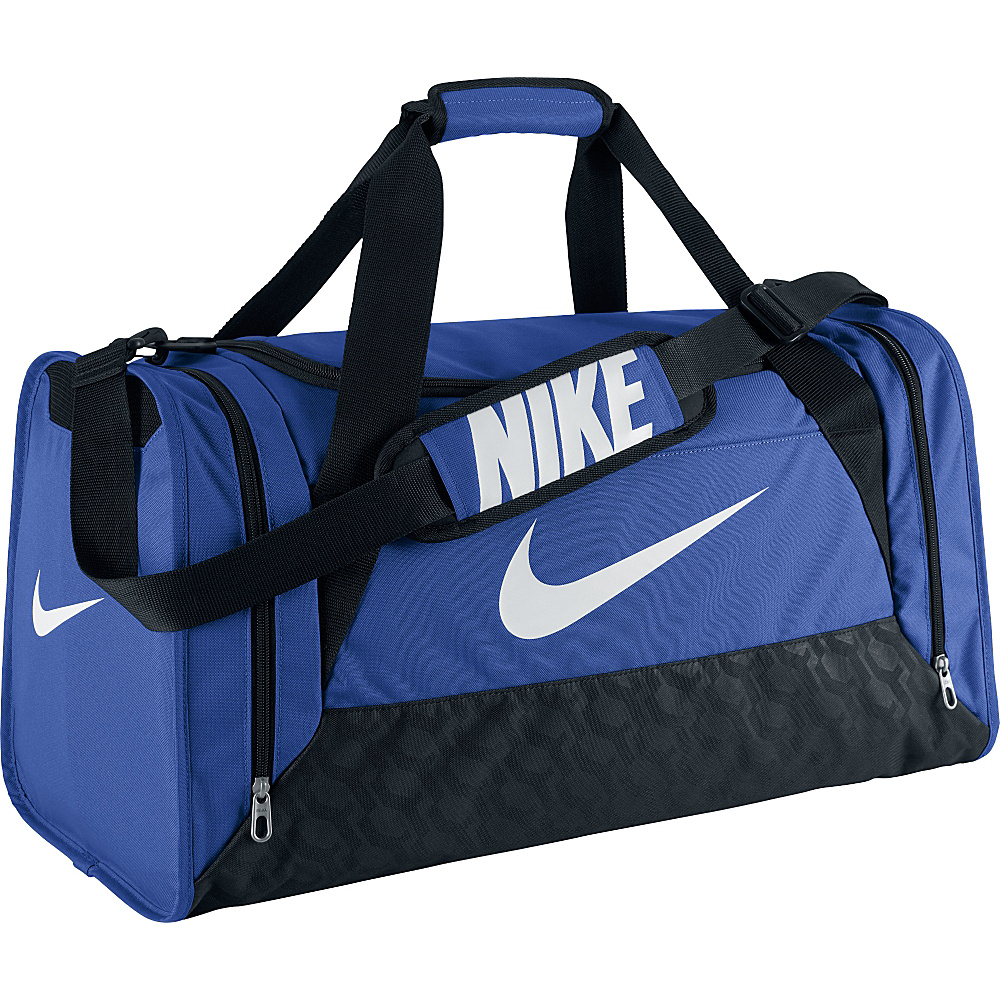Nike Brasilia 6 Medium Duffel Game Royal Black White Nike Gym Duffels