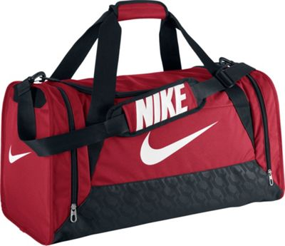 Nike Brasilia 6 Medium Duffel Gym Red/Black/(White) - Nike All Purpose Duffels