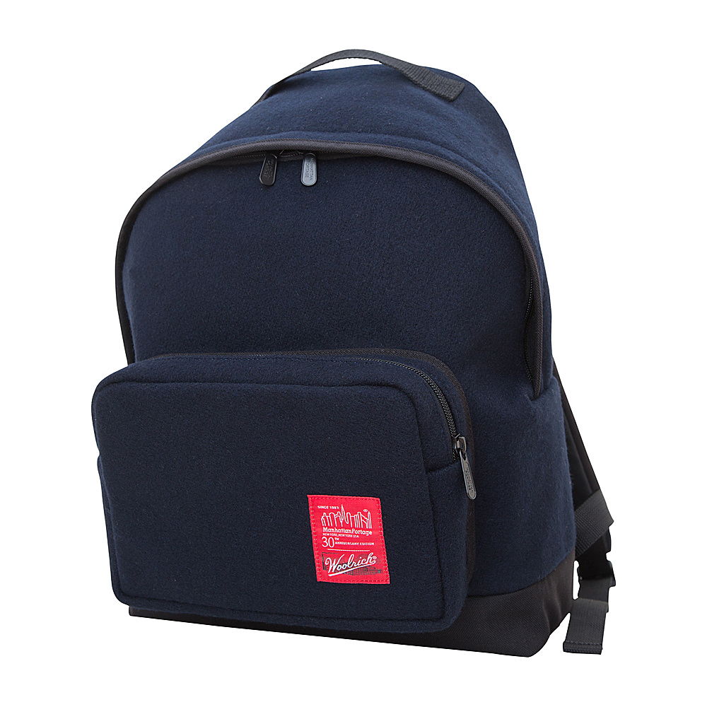 Manhattan Portage X Woolrich Big Apple Backpack (MD) Peacoat Navy - Manhattan Portage Everyday Backpacks - Backpacks, Everyday Backpacks