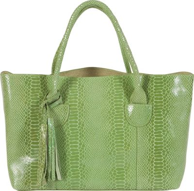 BUCO East West Iguana Pistachio Green - BUCO Leather Handbags