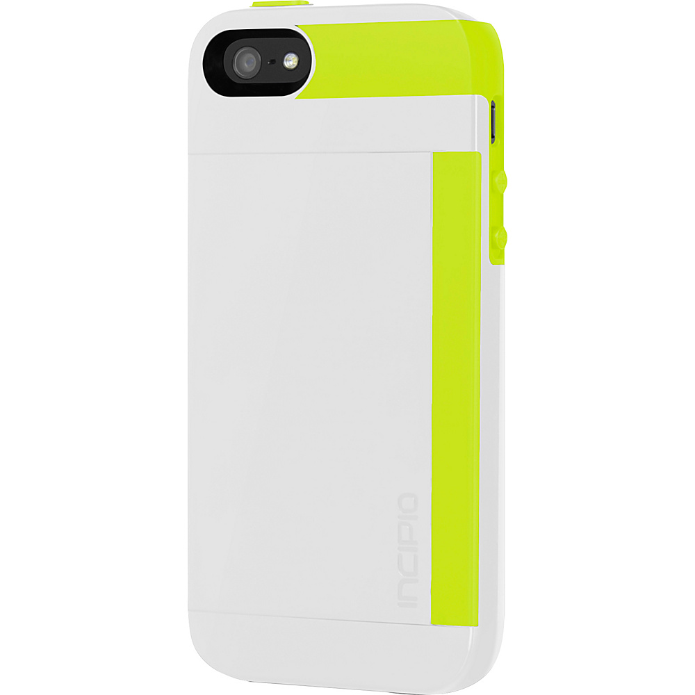 Incipio Stowaway For iPhone SE/5/5s White/Lime - Incipio Electronic Cases - Technology, Electronic Cases