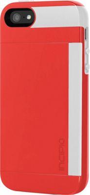 Incipio Stowaway For iPhone SE/5/5s Red/White - Incipio Electronic Cases