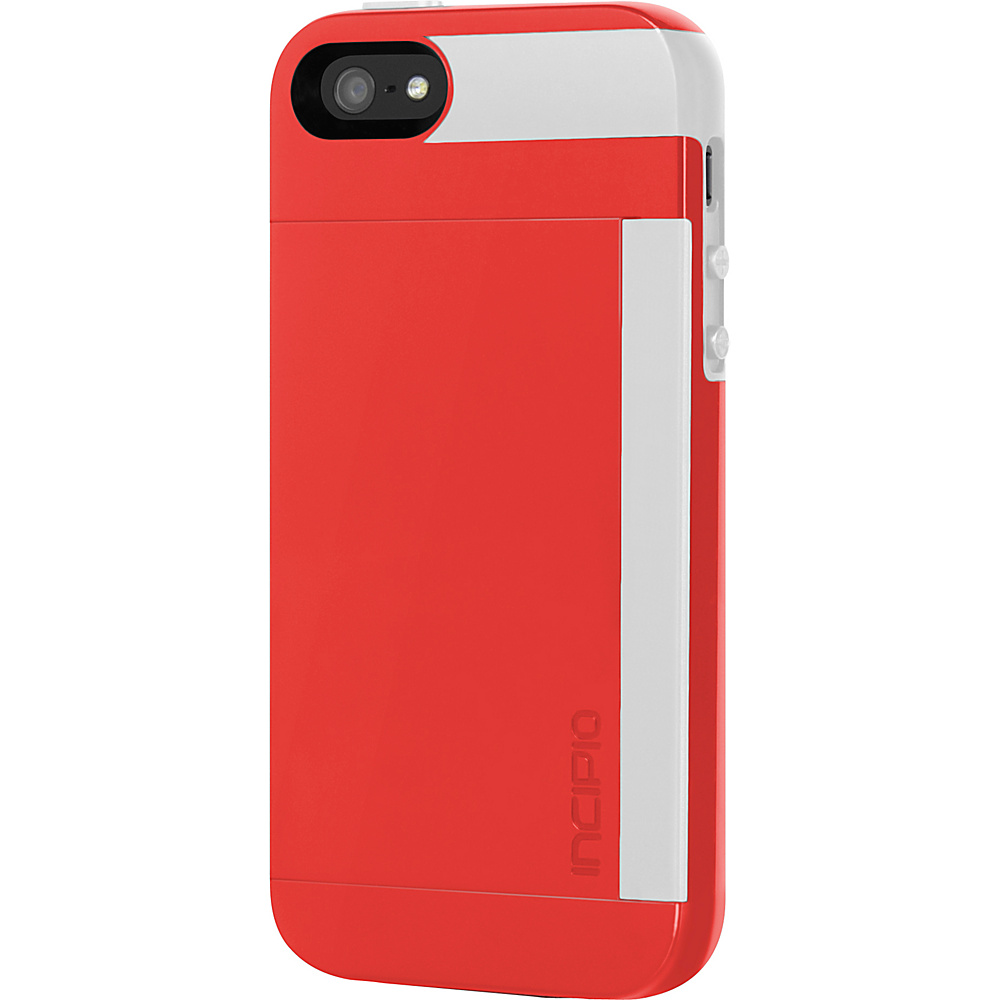 Incipio Stowaway For iPhone SE/5/5s Red/White - Incipio Electronic Cases - Technology, Electronic Cases