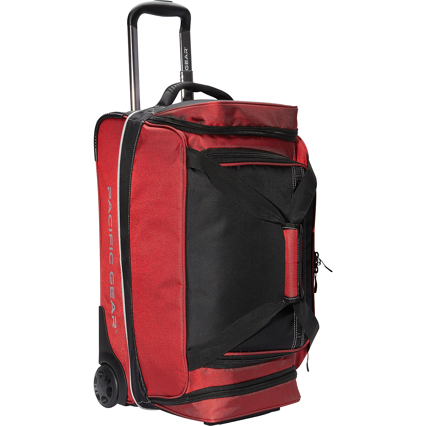 37da3bb2d5 Pacific Gear Drop Zone Carry On Rolling Duffel Bag Red Trave
