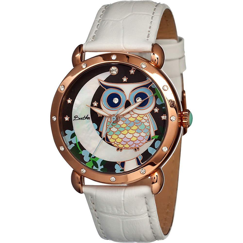 Bertha Watches Ashley Watch Rose Gold White Bertha Watches Watches