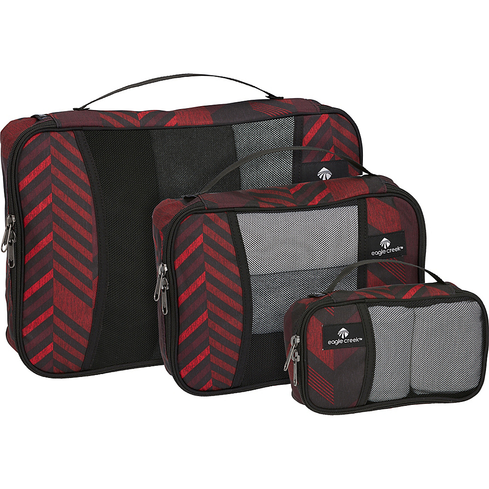 Eagle Creek Pack-It Cube Set Tribal Irregularity Red - Eagle Creek Travel Organizers - Travel Accessories, Travel Organizers