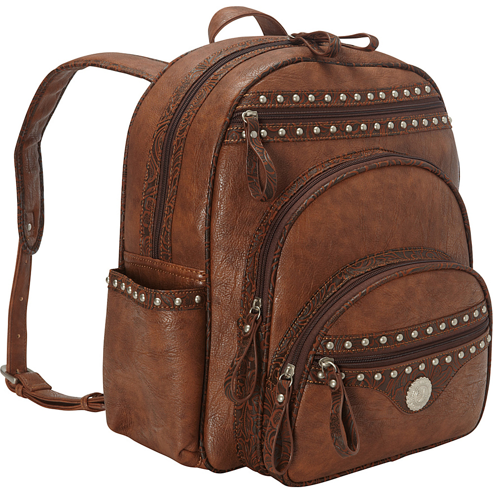 Bandana Lake Tahoe Collection Backpack Chestnut Embossed Brown Bandana Leather Handbags