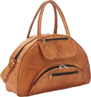 Sharo Leather Bags Travel Carry-on Leather Weekend Bag Brown - Sharo Leather Bags Leather Handbags