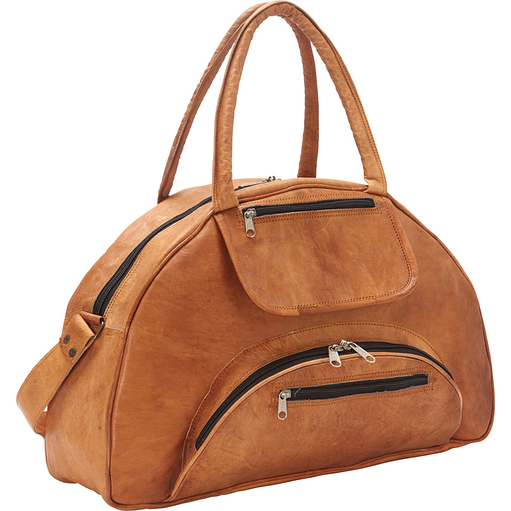 a416eb431109 Sharo Leather Bags Travel Carry-on Leather Weekend Bag Brown - Sharo  Leather Bags Leather