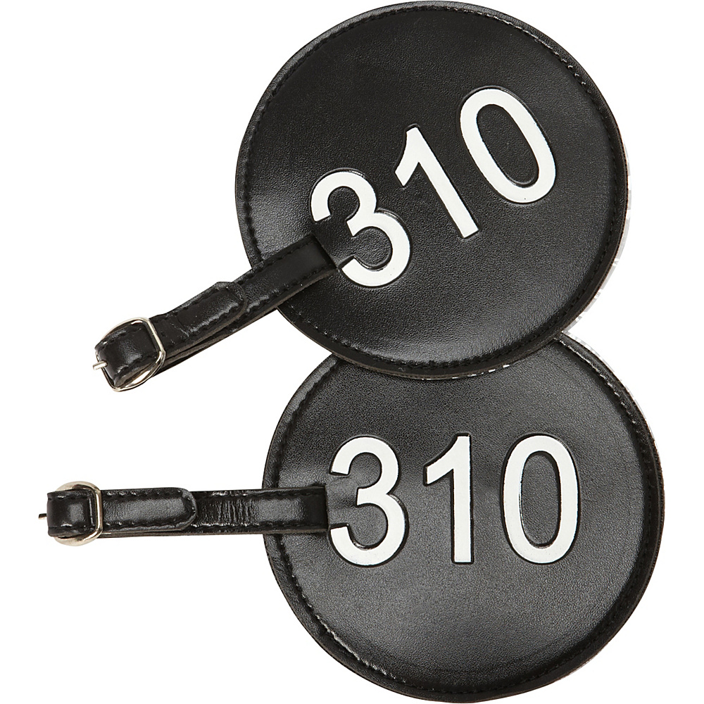 pb travel Number Luggage Tag 310 Set of 2 Black pb travel Luggage Accessories