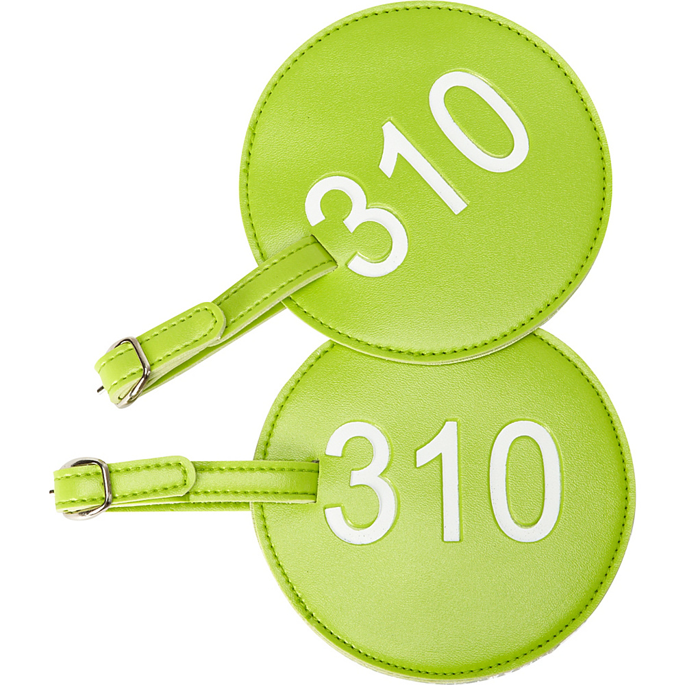 pb travel Number Luggage Tag 310 Set of 2 Green pb travel Luggage Accessories