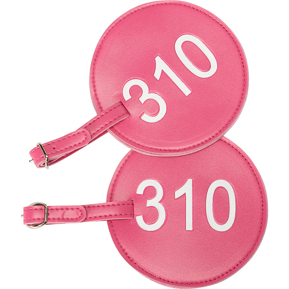 pb travel Number Luggage Tag 310 Set of 2 Fuchsia pb travel Luggage Accessories
