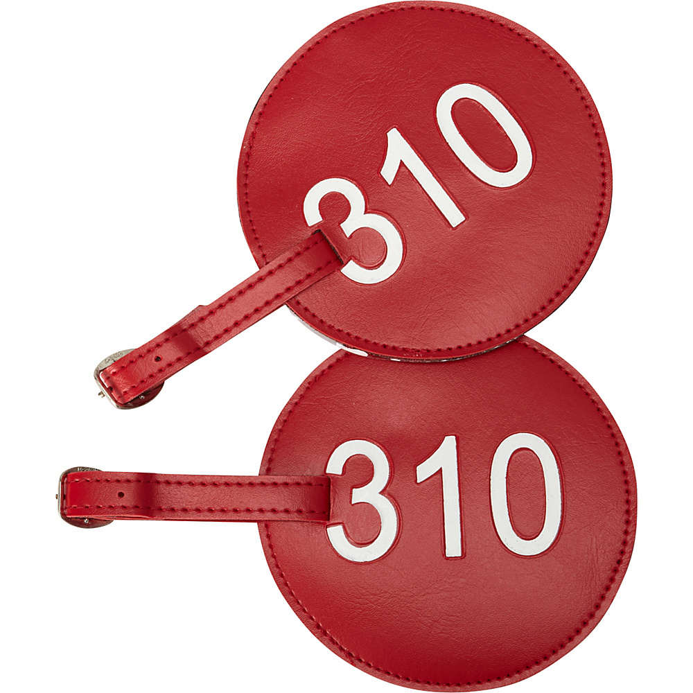 pb travel Number Luggage Tag 310 Set of 2 Red pb travel Luggage Accessories