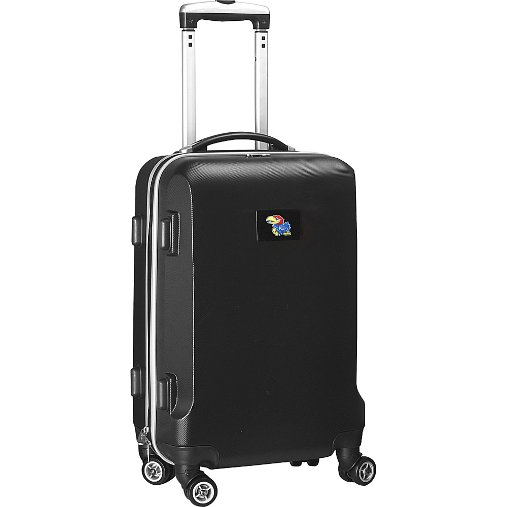 Denco Sports Luggage NCAA 20 Domestic Carry-On Black University of Kansas Jayhawks - Denco Sports Luggage Hardside Carry-On - Luggage, Hardside Carry-On