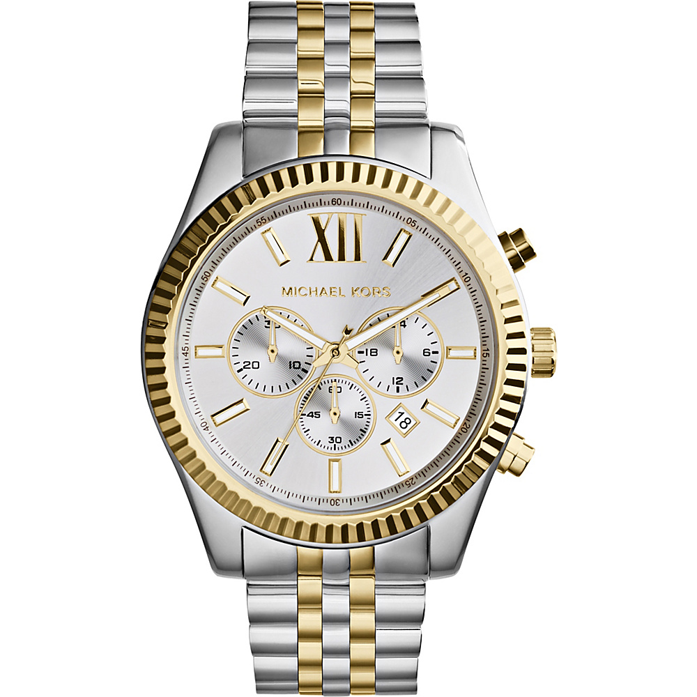 Michael Kors Watches Lexington Men s Watch Silver and Gold Michael Kors Watches Watches
